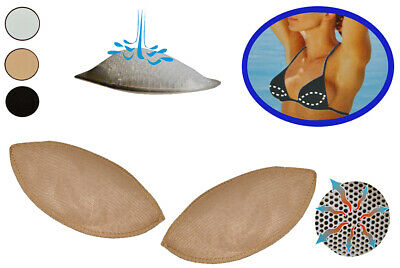 2 Set - Bra Insoles from Silicone - with Push up Effect - in Skin - Brusteinlage