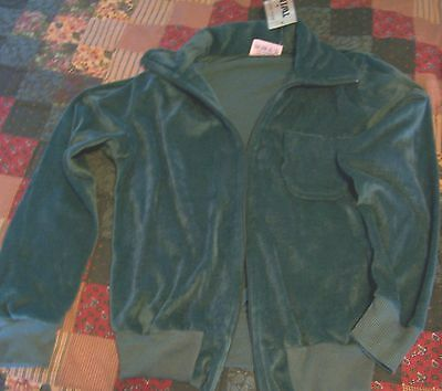 Ladies size 8 (S) or Girls Jacket Green velour  by Twinkle, Bnwt