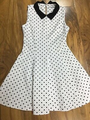 M&S Kids Girls Polka Dots Dress Age 9-10years