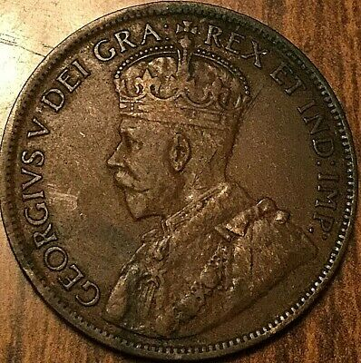 1918 Canada Large Cent Penny Large 1 Cent Coin
