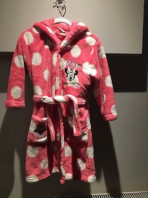 Girls Disney Minnie Mouse Pink Dressing Gown Age 3-4