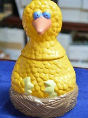 "Vintage Muppets Sesame Street Big Bird Ceramic 12"" Cookie Jar"