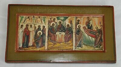 19c. RUSSIAN IMPERIAL CHRISTIANITY ORTHODOX RELIGIOUS ICON CHRIST OIL PAINTING