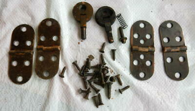 Antique Singer Sewing Machine Hinge And Screw Lot Cabinet Top Hinges And Screws