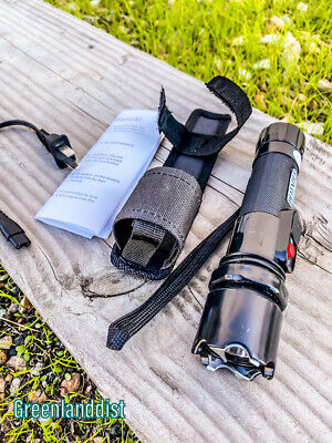 """6.5"""" 3 Million Volt Police Stun Gun Flashlight with Pouch Rechargeable New"""