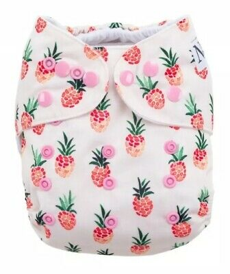 [New Out of Package] Nora's Nursery Cloth Diaper - Raspberry Pineapple Print