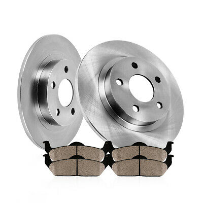 Rear 291 mm Brake Disc Rotors And Ceramic Pads For 2006-2012 Lexus IS250