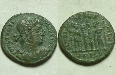 Constantine 307AD genuine Ancient Roman coin Legionary soldiers spears standards