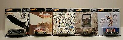 2020 Hot Wheels Pop Culture Led Zeppelin Set Of 5 In Hand Ready To Ship Fast !!!