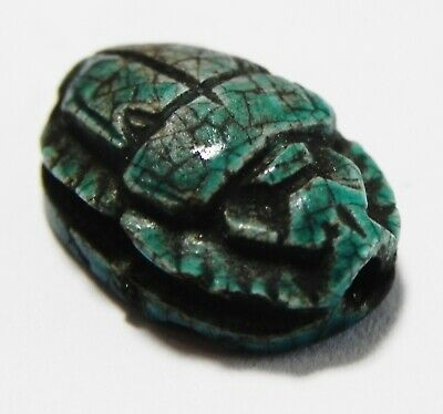 Zurqieh -As15999- Ancient Egypt, New Kingdom Stone Scarab. 1400- 1200  B.c