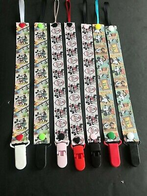 Handmade Pacifier Holder - Disney - Mickey and Minnie Mouse
