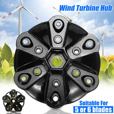 Wind Turbine Hub Generator Accessories Suitable For 5 / 6 Blades S/M Type Black