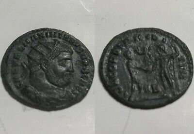 Galerius Victory Jupiter 295AD radiate fraction Rare genuine Ancient Roman coin
