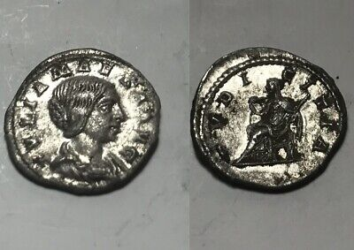 Genuine ancient Roman silver coin denarius Julia Maesa Pudicitia Severus dinasty