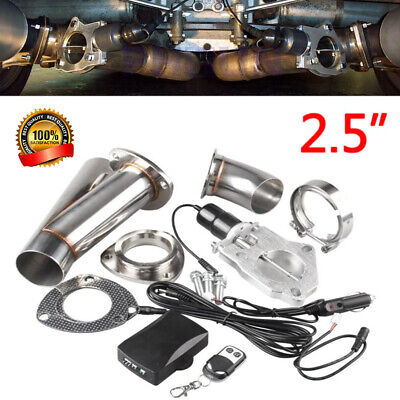 """2.5""""Electric Stainless Exhaust Cutout Cut Out Dump Valve Switch w/Remote Control"""