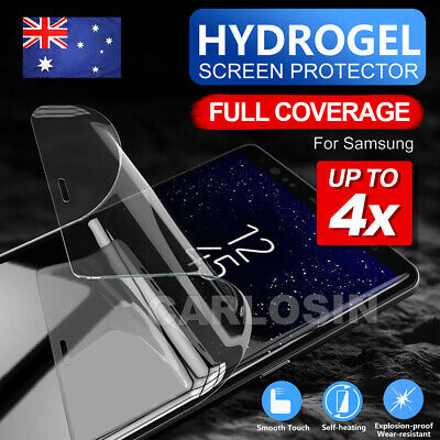 4X HYDROGEL Screen Protector For Samsung Galaxy S10 5G S9 S8 Plus Note 10 8 9 S7