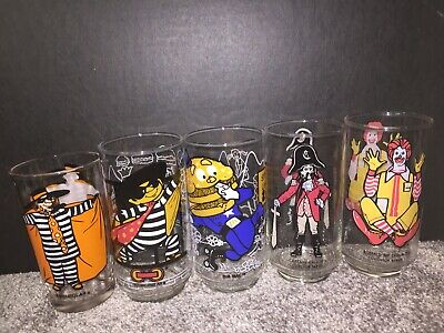 Vintage McDonald's Collector Series Glasses Lot Of 5 1977