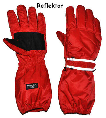 """Thermal Gloves/Gloves - with Long Shaft - """" Red """" - Size: 5 Jah"""