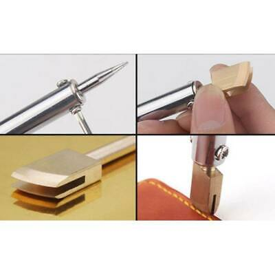 Leather Craft Pure Brass Leather Seal Edge Hot Electric Iron DIY Tools LJ