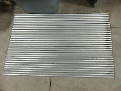 Aluminum upright support rod for lab benches 39 inches by 0.75 inch OD lot of 3