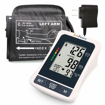 Automatic High Arm Blood Pressure Monitor Bp Cuff Gauge Machine Tester Meter Kit