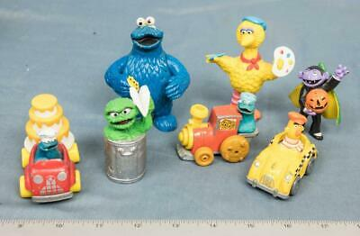 Vintage Sesame Street Lot of Small Action Figures Toys dq