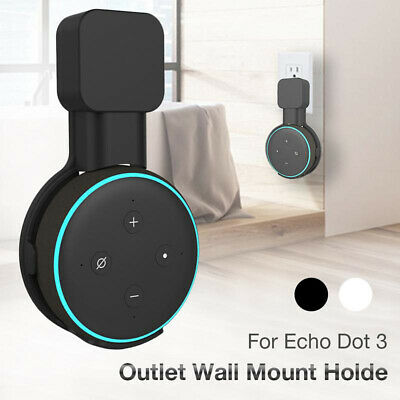 Outlet Wall Mount Hanger Holder Stand Socket for Amazon Echo Dot 3rd Generation@