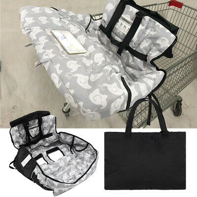 Baby Kids Shopping Trolley Cart Seat Pad High Chair Cover Printing + Handbag