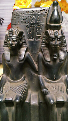 Statue of King Amenhotep the Third and his wife, Queen T.