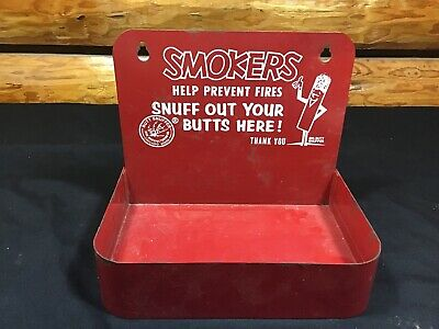 Smokers Butt Snuffer Cigarette Cigar Ashtray Wall Mount Great Graphics