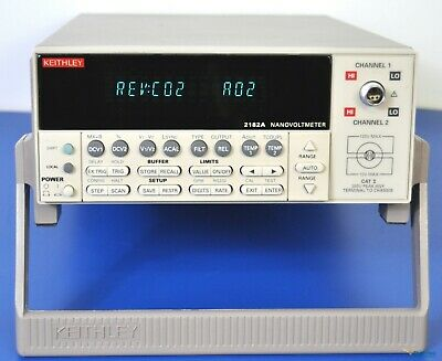 Keithley 2182A Nanovoltmeter 7.5 Digit Dual Channel NIST Calibrated Low Voltage
