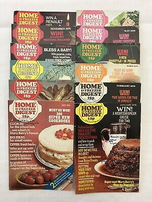 Home and Freezer Digest 1976 Complete Year - 12 issues