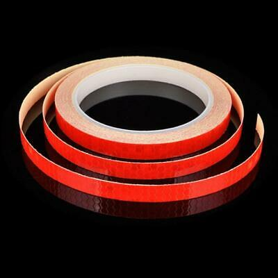 Red Reflective Stickers Hi Viz Safety Car Bicycle Night Cycling Reflector Tape