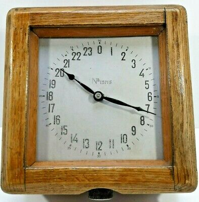 RARE! 1938 Soviet GORKY CRUISER Wooden Clock Ship Naval Clock USSR Mechanical
