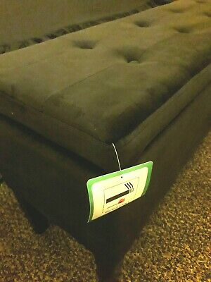 Brand New Black Velvet Storage Bench, Bedroom,Toy Box.