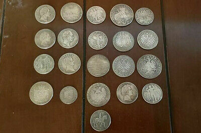 WW2 WWII German Elite coins lot x 20 SS Kampft Schilling money 1938 39 40 44