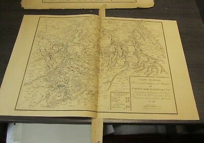 1839 Original French Military Atlas Petit Map 1793 Maastricht Netherlands Battle