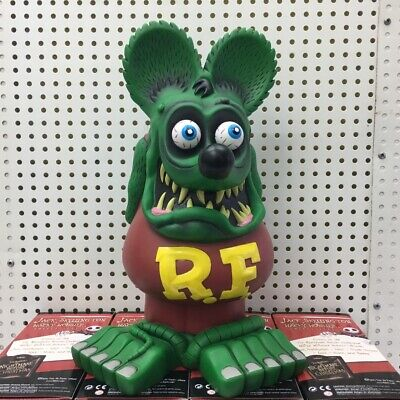 Green Rat Fink Ed Roth Big Daddy Legends PVC Rare 33CM Garage Kit Action Figure