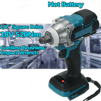 520Nm Cordless Brushless Impact Wrench 18V 1/2'' For Makita Battery DTW285Z