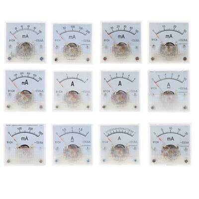 uxcell 85C1 Pointer Needle DC 0-5A Current Tester Panel Analog Ammeter 63mm x 55mm