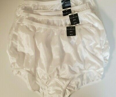 VTG Kim Rogers Size 7 White Nylon Panty Panties Briefs Underwear USA Made 4 NWT