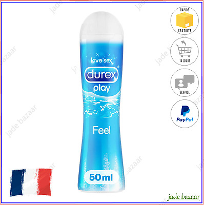 Durex Play Feel Gel Lubrifiant Intime Anal Vaginal Sodomie Glide Lubrix 50 ml