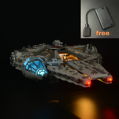 With battery box LED light kit for LEGO 75105 Millennium Falcon Space Ship Star