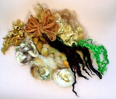 SALE Insprirational Project pack A~ Wool ~Silk ~Locks ~ Felting Textiles Sewing