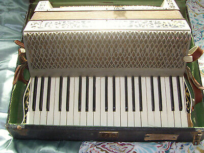 Vintage German Hohner Verdi 111 Accordion With Original Case.