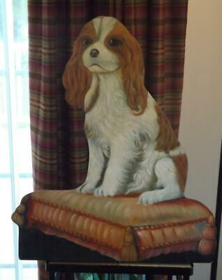 Chelsea House King Charles Spaniel Dummy Board Hand Painted Oil on Wood