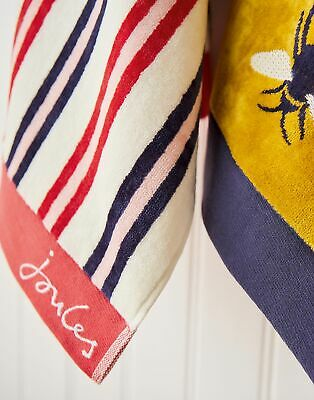 Joules Home Cotton Towel in BEACH STRIPE