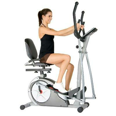 Elliptical Trainer 3-in-1 Workout Machine Cardio Bike Exercise Fitness Home Gym