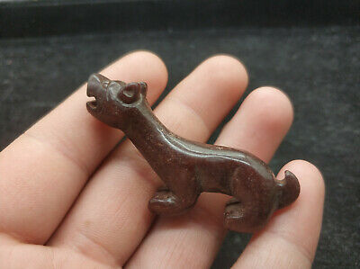 Ancient Chinese Red Mountain Culture Old Jade dog Amulet Pendant