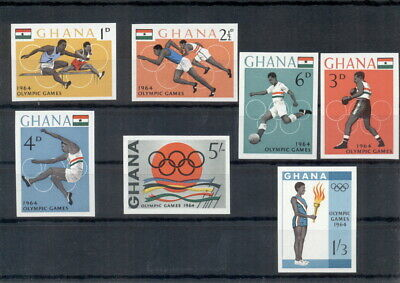 Olympic Games 1964 Olympics Tokyo Ghana 7 MNH imperforated stamps set